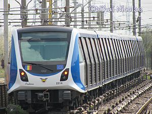 Construcciones y Auxiliar de Ferrocarriles - Bucharest Metro trains, built between 2013 and 2014