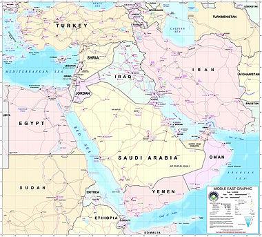 Bugünkü orta doğu nun siyasi ve ulaşım haritası