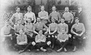 Middlesex Rugby Football Union - The Middlesex team that played the 1888–89 New Zealand Native football team on 22 October 1888