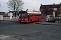 Midland Red South bus 281 Leyland National in Nuneaton Bus Station, Warwickshire February 1983.jpg