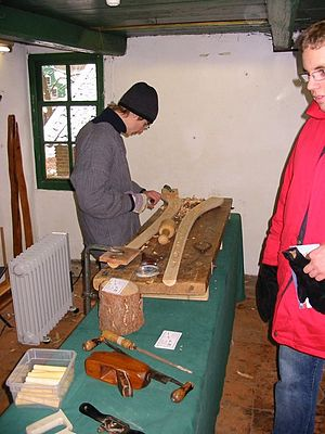 Midwinter horn - Making a midwinter horn at the Netherlands Open Air Museum in Arnhem