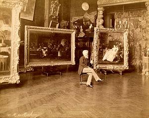 Mihály Munkácsy - Mihály Munkácsy in his studio