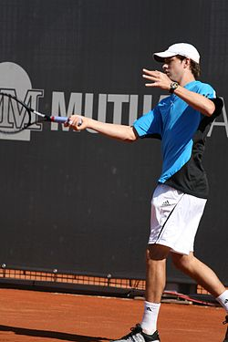 Mike Bryan at the 2009 Mutua Madrileña Madrid Open 01.jpg