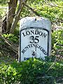 Milestone 36 on A10 in Therfield parish.jpg