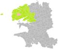 Milizac (Finistère) dans son Arrondissement.png