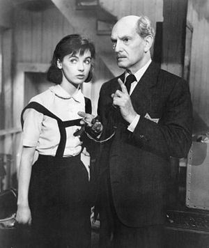 The Diary of Anne Frank (1959 film) - Millie Perkins as Anne Frank and Joseph Schildkraut as Otto Frank.