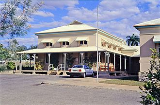 Charters Towers Courthouse - Rear extension from 1890, as seen in 1997