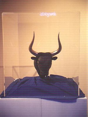 Minotaur - Rhyton in the shape of a bull's head, Heraklion Archaeological Museum; shown here at the Greek pavilion at Expo '88