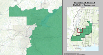 Mississippi's 3rd congressional district - since January 3, 2013.