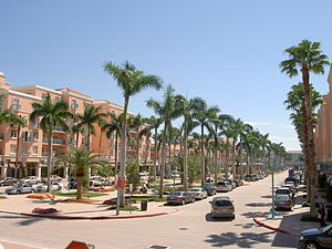 Boca Raton, Florida - Mizner Park is a downtown attraction in Boca Raton's financial district.