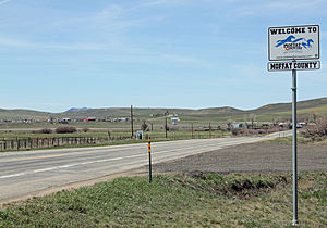 Moffat County, Colorado - Entering Moffat County from the east on U.S. Route 40.