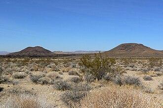 Cima volcanic field - Cinder cones seen from Kelbaker Road.