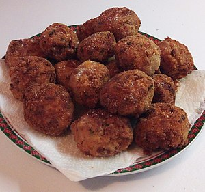 Mondeghili, traditional Italian fried meatballs from Lombardy