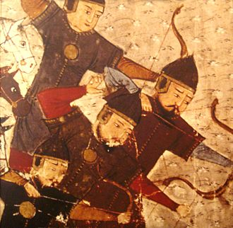 Öljaitü - Mongol soldiers at the time of Öljeitü, in Jami al-Tawarikh by Rashid-al-Din Hamadani, 1305-1306.