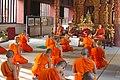 Monks in Wat Phra Singh - Chiang Mai.jpg