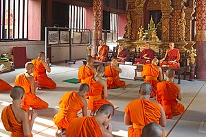 Celibacy - Buddhist monks in Chiang Mai Province, Thailand