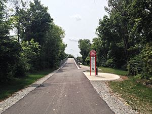 Carmel, Indiana - The Monon Greenway in Carmel