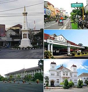 Yogyakarta City in Java, Indonesia