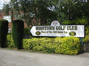Moortown Golf Club - Entrance Sign, Harrogate Road, LS17 7DB