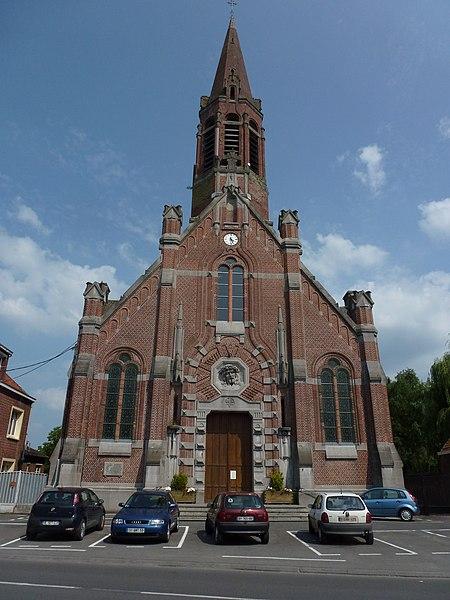 Mortagne-du-Nord (Nord, Fr) église