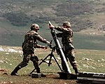 Mortar of 2nd Armored Cavalry Regiment, Stabilization Force, Bosnia and Herzegovina.jpg