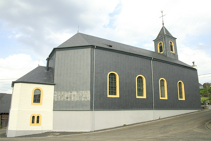 Mortehan   (Belgium), the St. Hubert church (1840).