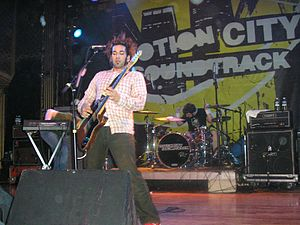 Motion City Soundtrack - The band performing in Denver, Colorado in 2005.