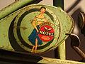 Motul Century Lubrifiez sticker advert, Musée de la Moto et du Vélo, Amneville, France.JPG