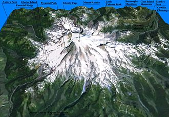 Mount Rainier - Three-dimensional representation of Mount Rainier