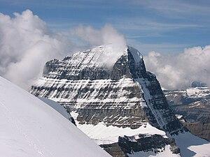 Mount Alberta - Mount Alberta seen from near the summit of Diadem Peak