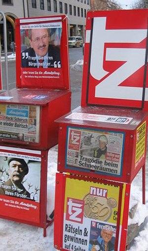 Abendzeitung - Image: Munich tabloid vendors