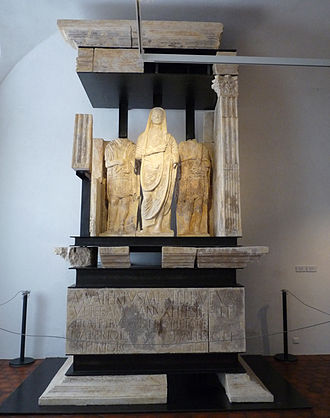 Musée archéologique (Strasbourg) - Mausoleum of veteran Marcus Valerius Rufus and his brothers, the legionaries Lucius Valerius Niger and Lucius Valerius (1st century)