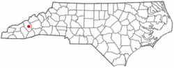 Location of Clyde, North Carolina