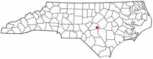 Erwin, North Carolina - Image: NC Map doton Erwin