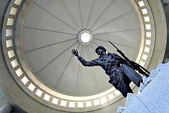 National Infantry Museum - Image: NIMSC Exterior 04, Follow Me Statue (5142771739)