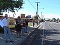 NM Unions Protest John McCain at Hotel Albuquerque (2672897345).jpg
