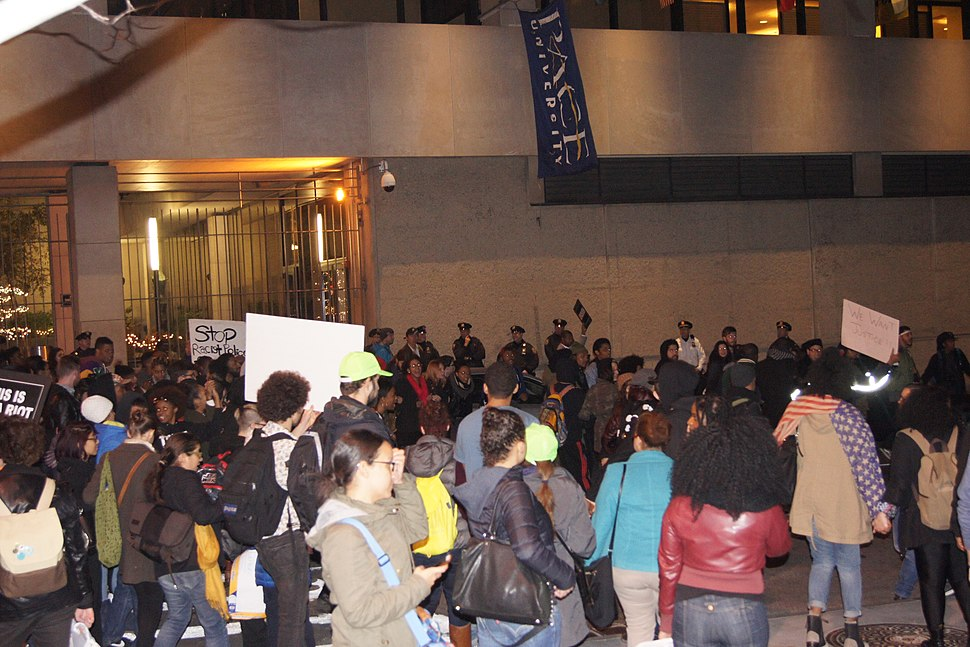 NYC Mike Brown-Ferguson protest Pace University