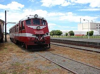 Pahiatua - RM 31 (Tokomaru) going for a run through the Pahiatua station yard.