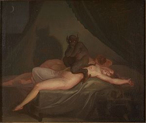 Nicolai Abildgaard - Nightmare (1800) after Henry Fuseli's The Nightmare (1781).
