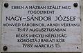 Nagysándor József Plaque Gyula.jpg