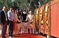 Narendra Modi paid homage at the Samadhi Statues of Shaheed Bhagat Singh, Rajguru and Sukhdev at National Martyrs Memorial, at Hussainiwala, in Punjab. The Chief Minister of Punjab.jpg