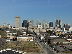English: Skyline of Nashville, Tennessee.