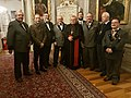 Nathaniel Filip a Řád sv. Huberta s kardinálem Dominikem Dukou.jpg