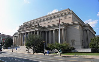 National Archives and Records Administration - The National Archives Building from Constitution Avenue