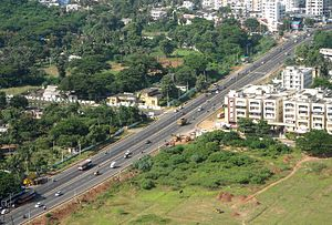 National Highway 16 (India) - Image: National Highway 16 (old NH 5) at Visakhapatnam