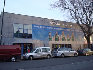 Irish Athletic Boxing Association - National Stadium in Dublin. Home to the only purpose built amateur boxing stadium in the world.