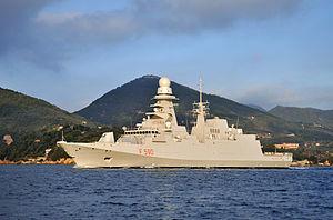 FREMM multipurpose frigate - Image: Nave Bergamini 3