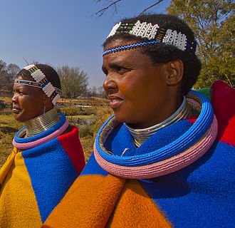 Neck ring - Traditional Ndebele dress