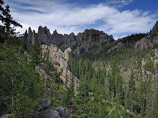 Black Hills mountain range in South Dakota and Wyoming