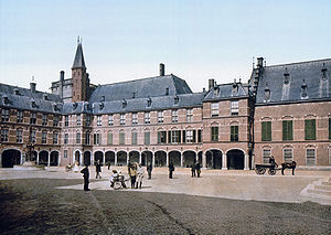 Capital of the Netherlands - The Hague has been the seat of government of the Netherlands since 1588.  Binnenhof - the Dutch Parliament